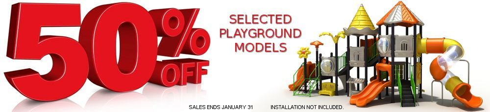 50 percent off selected Playground Sale