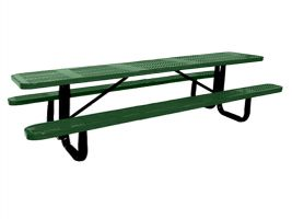 10ft Commercial Perforated Picnic Table