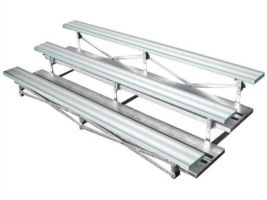 3 Row Aluminum Bleachers - 15 ft