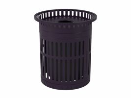 32 Gal. Trash Can & Lid - Flared Rib Style