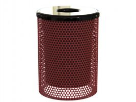 32 Gal. Trash Can - Perforated Metal