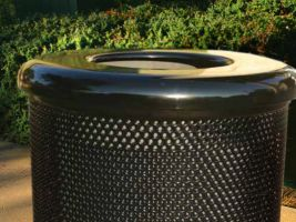 Commercial Park Flat Top Trash Can Lid