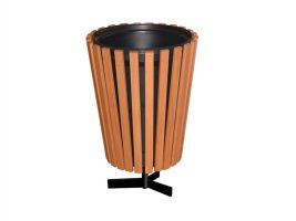Commercial Grade Wood Trash Receptacle with Liner