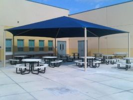 38 foot hexagonal sun shade structure