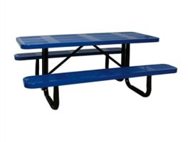 4' Commercial Perforated Picnic Table