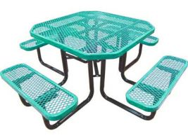 Portable Octagonal Expanded Metal Table