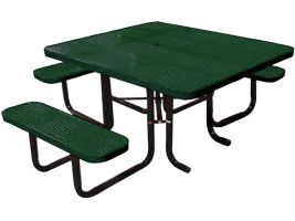 Portable Perforated Metal ADA Picnic Table