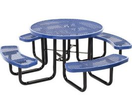 Portable Expanded Metal Picnic Table