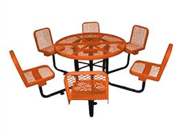Expanded Metal Picnic Table and Chairs