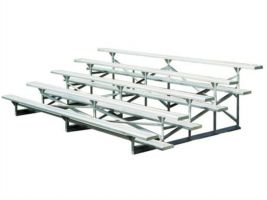 5 Row Aluminum Bleachers - 15 ft