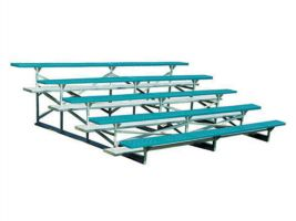 5 Row Powder-Coated Bleachers - 15 ft