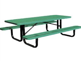 Portable Metal Picnic Table - 8'