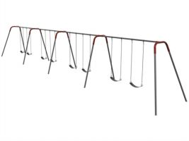 Bipod swingset for commercial use