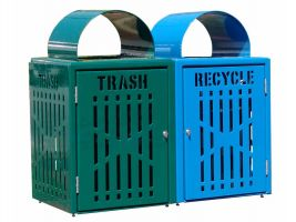Diamond Trash Recycling Receptacle