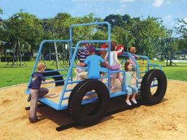 Fun Freestanding Play Safari Jeep
