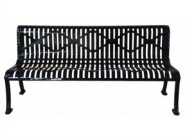 Armless Roll Formed 6ft Bench - Diamond Pattern