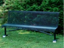 6 ft Armless Roll Formed Steel Rod Bench
