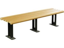 Trendy Modern Style Backless Bench in Recycled Plastic