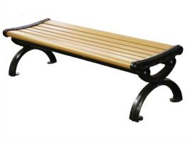 Classic Victorian Style Courtyard Bench in Recycled Plastic