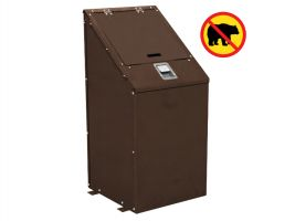 Bear-Proof Commercial Trash Receptacle, Lid and Liner