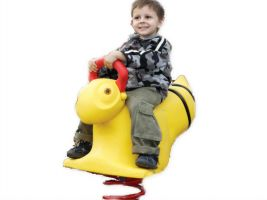 Bouncing fun outdoor spring toy