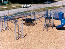 School Playground Structure with Climber Equipment