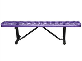 Commerical Grade 6ft Expanded Metal Backless Bench