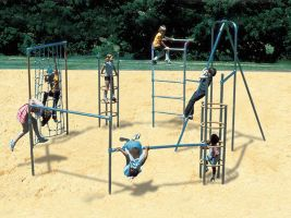 Outdoor jungle gym playground climber