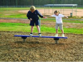 Commercial Spring Bouncer Balance Beam For Playgrounds