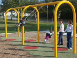 Commercial Arch Swing Set - 2 Bay