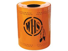 Personalized Perforated Trash Receptacles