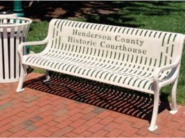 Cut Steel Logo 4ft Bench - Diamond Pattern