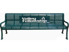 Cut Steel Logo 6ft Bench - Perforated