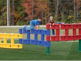 3-Tier plastic playground climber for kids