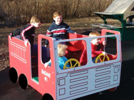 Springy Fire Truck Playground Ride