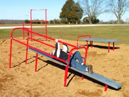 Upper body slide board for elementary schools