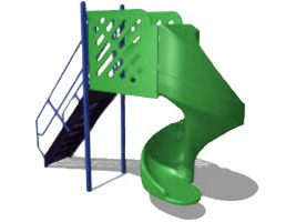 Freestanding 6' Spiral Slide
