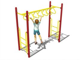 Freestanding Triangle Overhead Monkey Bars
