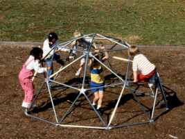Metal Dome Commercial Playground  Climber