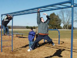10' Monkey Bars Jr. Overhead Ladder