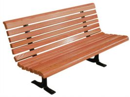 Designed Wood Bench 6' Commercial Park Furniture