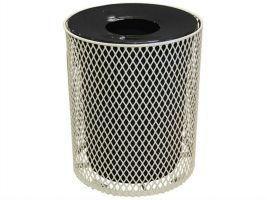 Expanded Metal Trash Receptacle