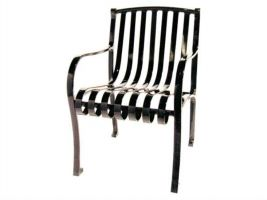 Arch Back Park Chair with Arm Rests