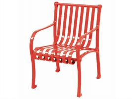 Decorative Oglethorpe Commercial Seating Park Chair with Arm Rests