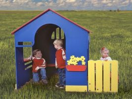 Commercial Playground Equipment - Outdoor Playhouse