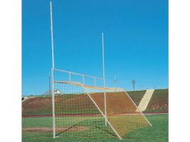 Commercial grade football and soccer goal combo set