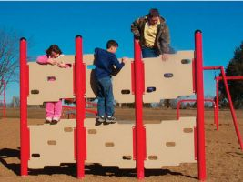 Park climbing panel wall for fun & fitness