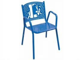 Personalized Commercial Seating Perforated Park Chair