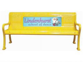 6ft Full Color Logo Perforated Bench