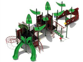 Outdoor Shaded Pirate Ship Playset